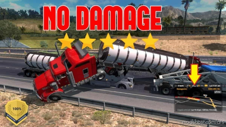 NO Damage Collision Mod [1.38] for American Truck Simulator