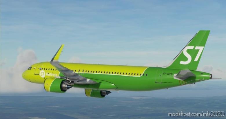 S7 – Siberia Airlines A320Neo Vp-Btb V1.1 for Microsoft Flight Simulator 2020