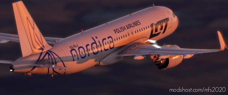 "PLL ""LOT"" / Nordica (Clean) for Microsoft Flight Simulator 2020"