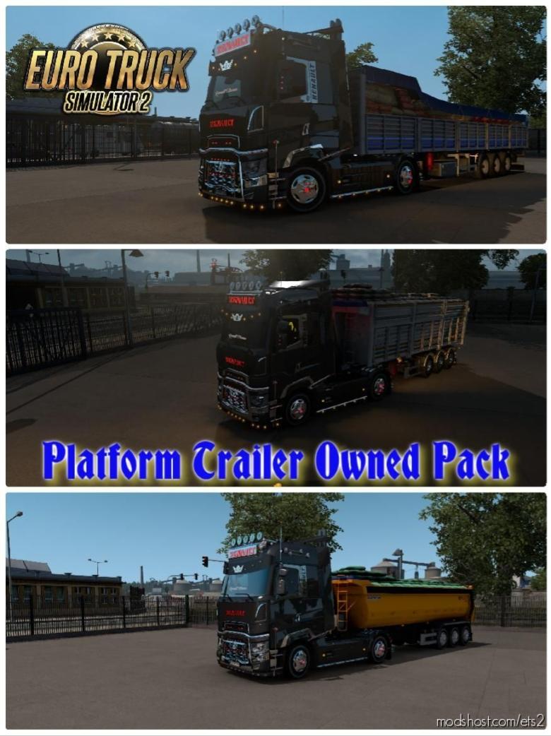 Platform Trailer Owned Pack [1.38] for Euro Truck Simulator 2
