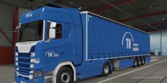 Scanias (High Roof) + Trailerscs Transportesnogueira PT Portugal for Euro Truck Simulator 2