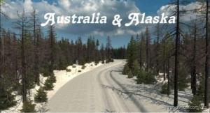 Australia & Alaska Map [1.38] for American Truck Simulator