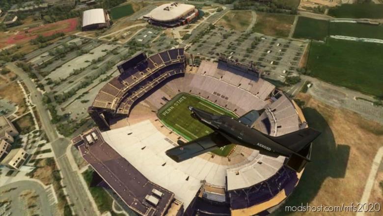 University Park, Pennsylvania – Penn State University: Beaver Stadium for Microsoft Flight Simulator 2020