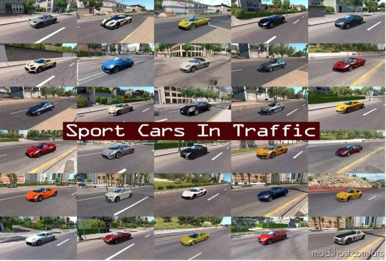 Sport Cars Traffic Pack (ATS) By Trafficmaniac V7.1 for American Truck Simulator