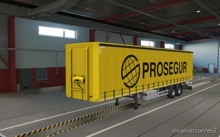 Skin Prosegur For SCS Trailers for Euro Truck Simulator 2