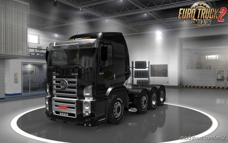 Volkswagen Constellation 8×4 + Interior [1.38.X] for Euro Truck Simulator 2