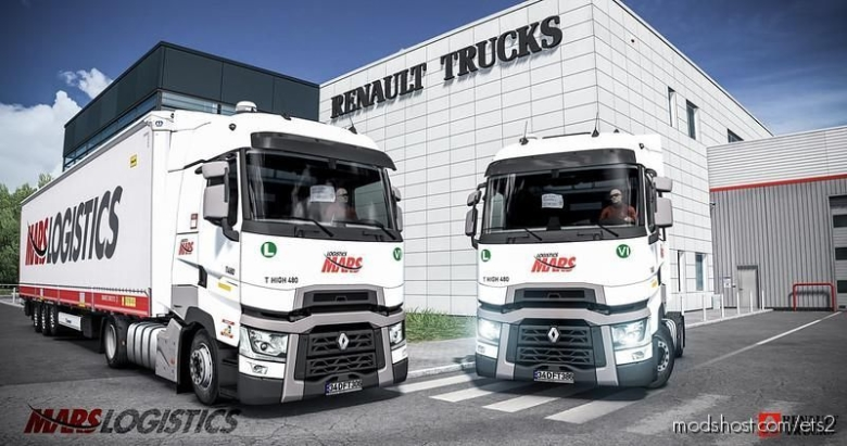 Mars Logistics T 480 High Skin for Euro Truck Simulator 2
