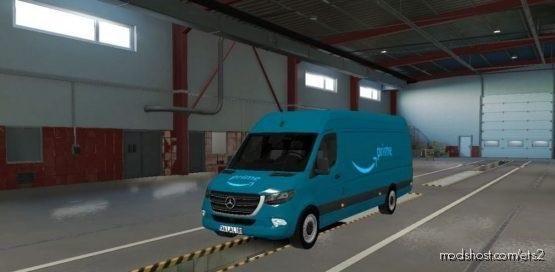 Mercedes Sprinter 2019 Amazon Prime Skin [1.38] for Euro Truck Simulator 2