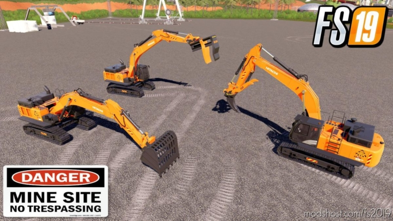 Mining Pack For Hitachi 470LC for Farming Simulator 19