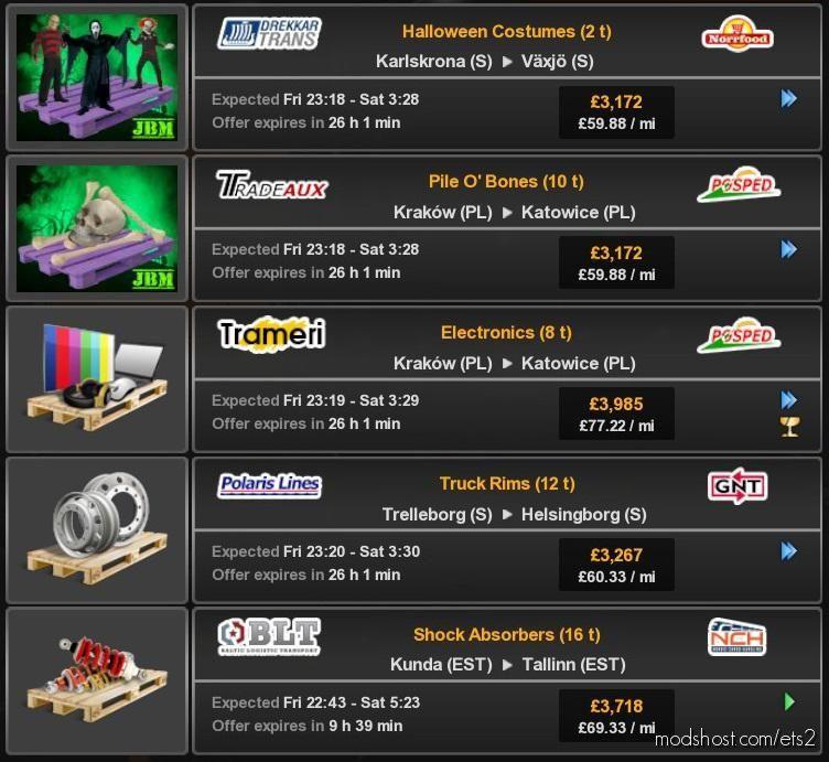 Halloween Cargo Pack for Euro Truck Simulator 2