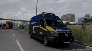 Blacksteel Worldwide Escort Vehicle for Euro Truck Simulator 2