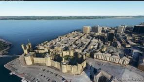 Caernarfon Castle Wales for Microsoft Flight Simulator 2020