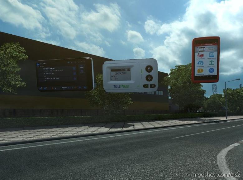 Toll Pass Device, GPS, Speedometer [1.35 – 1.38] for Euro Truck Simulator 2