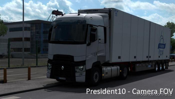 Realistic Camera Viewing Angle [1.38] for Euro Truck Simulator 2