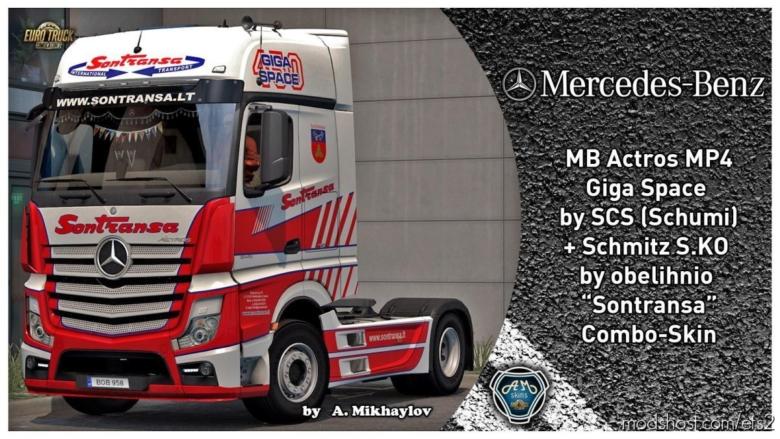MB Actros MP4 Sontransa Combo-Skin for Euro Truck Simulator 2