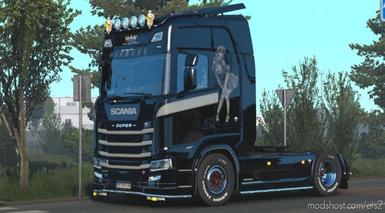 Beauty V8 Skin For Scania S By Kript V1.1 for Euro Truck Simulator 2