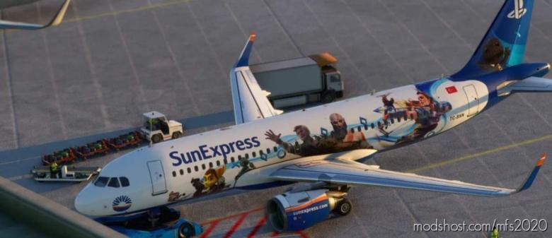 """Planestation"" (Sunexpress Special Livery) for Microsoft Flight Simulator 2020"