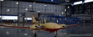 Beechcraft Baron G58 Burgundy X V for Microsoft Flight Simulator 2020