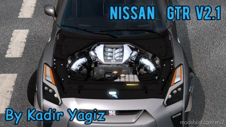Nissan GTR R35 V2.1 Upgrade [1.38] for Euro Truck Simulator 2