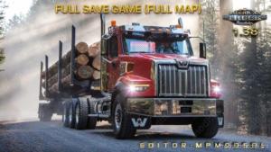 Full Save Game [1.38] (Full MAP) for American Truck Simulator