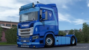 JJ Verweij Paint Scheme Reimagined For Scania R for Euro Truck Simulator 2