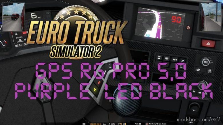 GPS RG PRO Purple LED Black V5.0 for Euro Truck Simulator 2