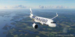 "A320Neo Finnair ""Unikko"" 4K Livery for Microsoft Flight Simulator 2020"