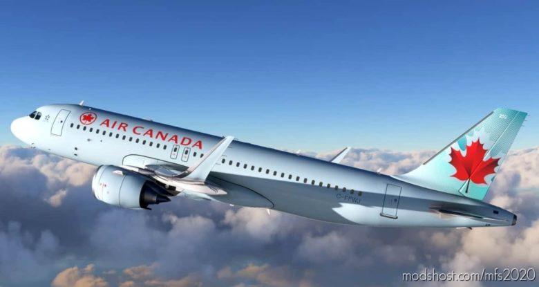 [8K Livery] AIR Canada A320 NEO ICE Blue Livery for Microsoft Flight Simulator 2020