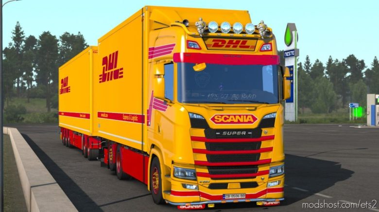 DHL Tandem Reworked V1.2 for Euro Truck Simulator 2