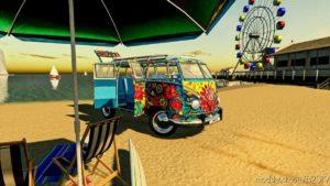 Hippy Volkswagen VAN V1.1 for Farming Simulator 19
