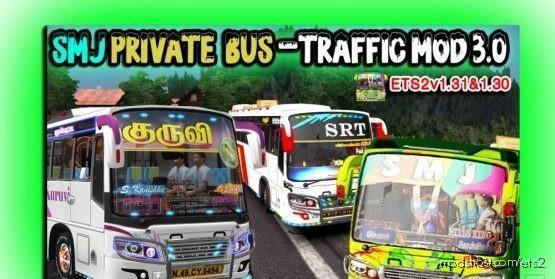 TN Private BUS Traffic Mod 3.0 V1.30 for Euro Truck Simulator 2