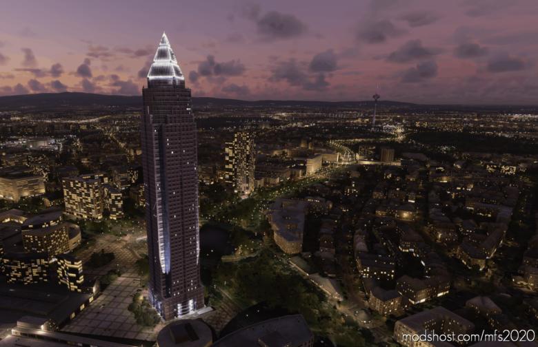 Messeturm OR Trade Fair Tower Frankfurt for Microsoft Flight Simulator 2020