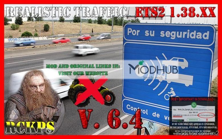 Realistic Traffic V6.4 [1.38.X] for Euro Truck Simulator 2