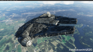 Animated Millenium Falcon for Microsoft Flight Simulator 2020