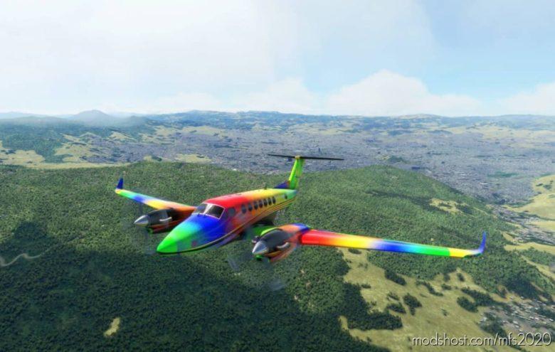 "Beechcraft Kingair 350I ""Harlequin"" for Microsoft Flight Simulator 2020"