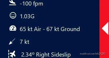 Gees – In Game Landing Analysis V0.1.0 for Microsoft Flight Simulator 2020