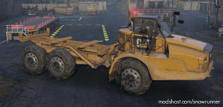 """Enhanced CAT 745C """"Wendigo"""" M181 for SnowRunner"""