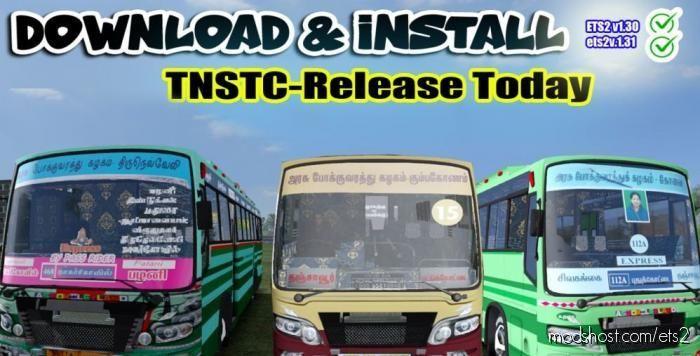 5 In 1 Skin Pack TN Private BUS V1.30 for Euro Truck Simulator 2