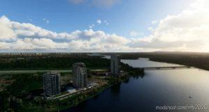 Laval Towers + Louis-Bisson Bridge Lightning for Microsoft Flight Simulator 2020