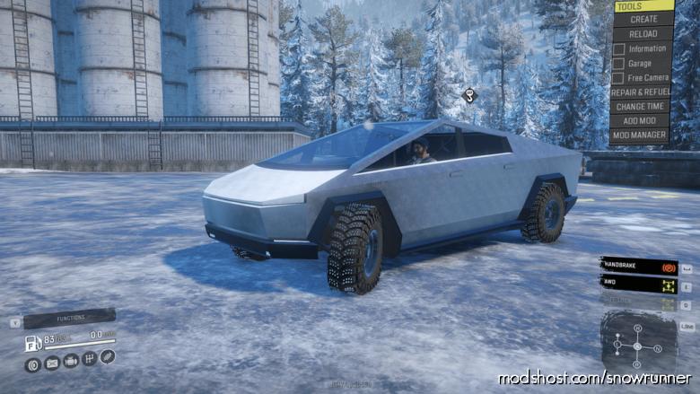 Frog's Tesla Cybertruck for SnowRunner