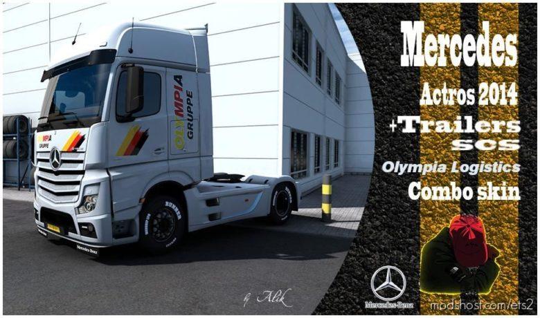 Combo Skins Olympia Logistics for Euro Truck Simulator 2