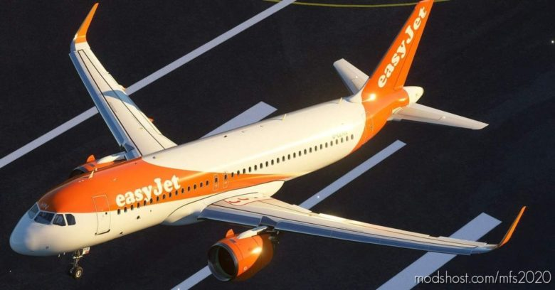 Easyjet A320 NEO G-Uzhn 8K for Microsoft Flight Simulator 2020