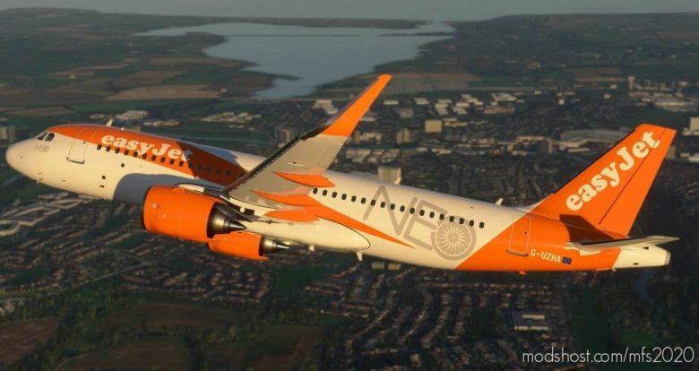 Easyjet A320 NEO G-Uzha 8K for Microsoft Flight Simulator 2020