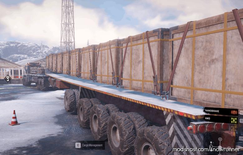 PTS Only 10 Slot Semitrailer for SnowRunner