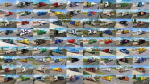 Painted Truck Traffic Pack By Jazzycat V11.4 for Euro Truck Simulator 2