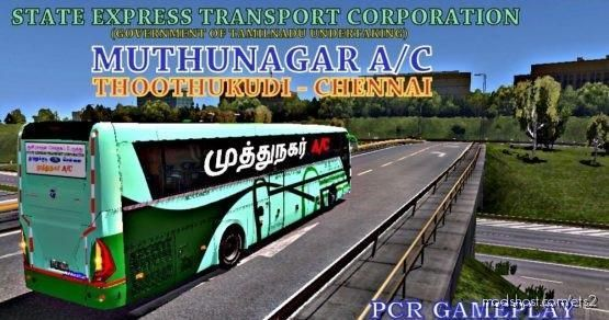 Setc TCN Depot Thoothukudi Chennai 170/AC Temsa Safir 1.31 for Euro Truck Simulator 2