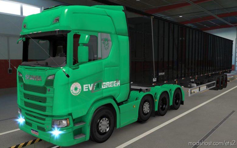 Skin Scania S 2016 8X4 Evergreen Green [1.39] for Euro Truck Simulator 2