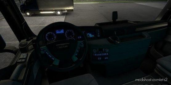 MAN TGX Euro 6 – Blue Dashboard Lights for Euro Truck Simulator 2