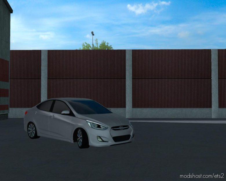 Hyundai Accent Blue 2010 V5 [1.38] for Euro Truck Simulator 2