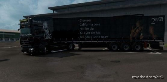 Tupac Shakur Skin Pack For Scania RJL And Trailer By Tigris for Euro Truck Simulator 2